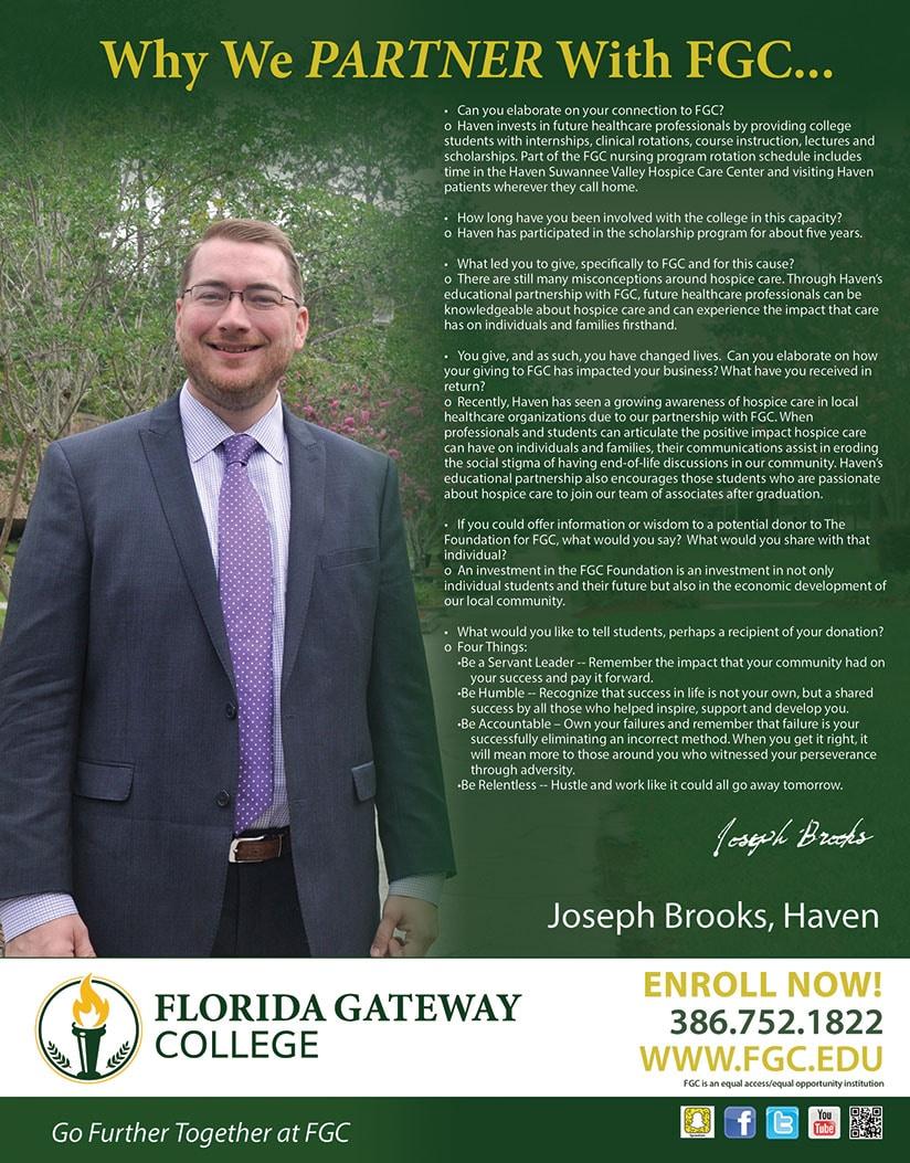 Joseph Brooks' Story